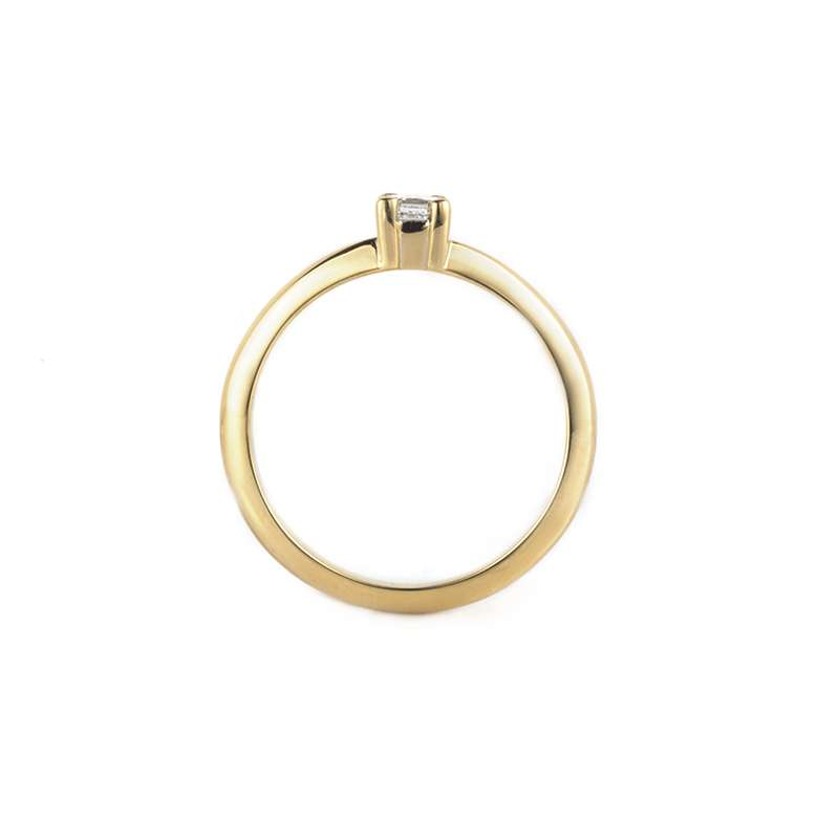 18k Yellow Gold Princess Cut Diamond Ring 0.23ct H/VS2